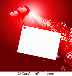 Heart Tag Shows Text Space And Copy - Tag Copyspace Meaning...