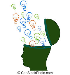 Think Idea Indicates Innovations Consideration And Creative...