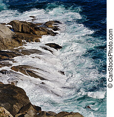 View from Chapmans Peak - Seascape with view from Chapmans...