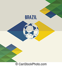 Brazil soccer background - Brazil soccer. Abstract geometric...