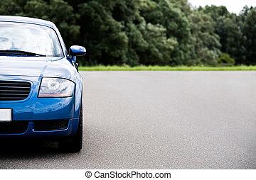sports car blue