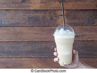 coffee - Ice coffee smoothie flavor is sweet and cool.