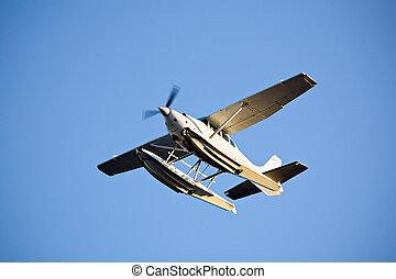 seaplane in flight - seaplane or floatplane in flight...