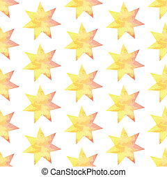 Aquarel star, vector vintage seamless pattern eps 10