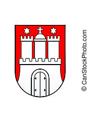hamburg germany state seal logo - Hamburg Germany state seal...