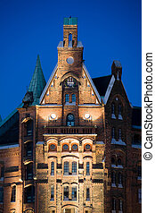 hamburg speicherstadt old buildings - Hamburg Germany -...