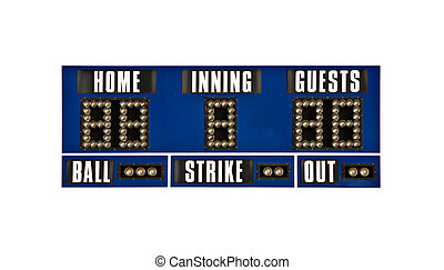scoreboard baseball isolated - scoreboard for baseball...