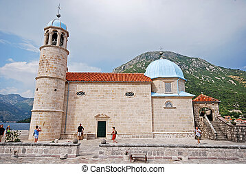 Church Our Lady of the Rocks,Montenegro. - KOTOR BAY,...