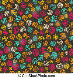 Simple Colorful Pomegranate Seamless Pattern Background