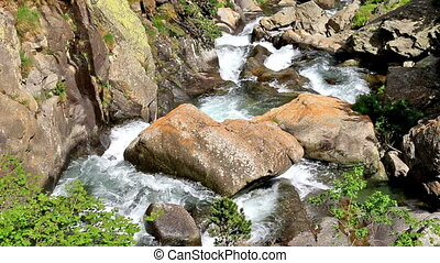 Beautiful river detail on the Pirineus (Spain)