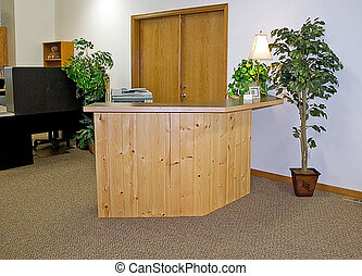 escritório, recepção, Área