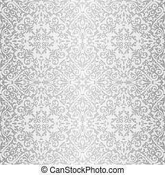 Silver baroque bright pattern