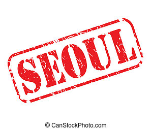 SEOUL red stamp text on white