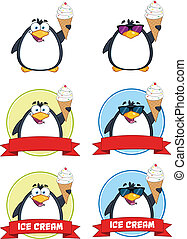 Penguin Cartoon Poses 6 Collection