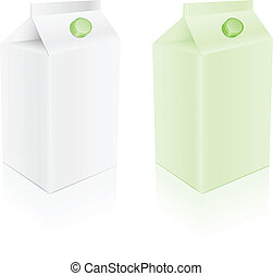 green and white milk pack  set