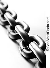 chain macro on white