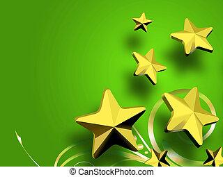christmas Golden Stars background