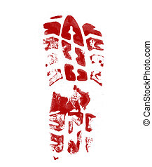 shoe print background