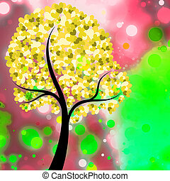 Decorative Tree Valentine Background