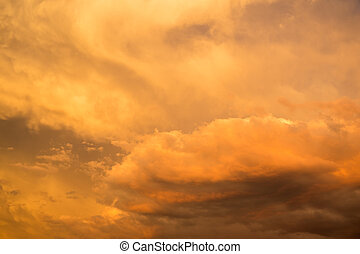 Stormy cloudy vibrantly colored sky - A stormy cloudy...