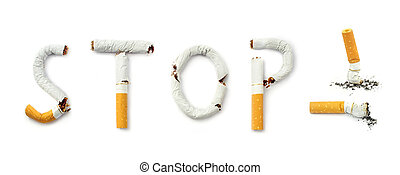 Stop smoking close up image