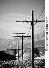 power lines utility poles b and w - power lines utility...