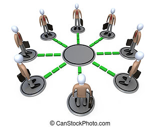 Business Network - Computer generated image - Business...