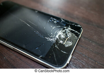 Cracked screen mobile