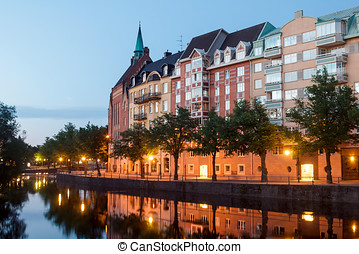 White Nights in the Swedish town
