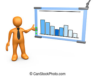 Statistics - Computer Generated 3D Image - Statistics .