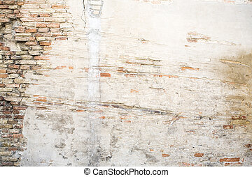 grunge wall background heavily decayed closeup