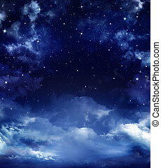 starry sky - beautiful starry sky, space background