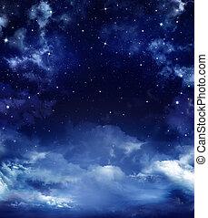 starry sky - beautiful starry sky, space background