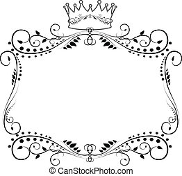 ORNATE FRAME WITH CROWN