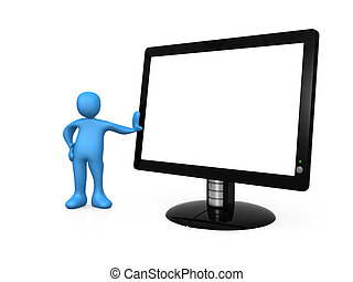 Empty Monitor - Computer generated image - Empty Monitor .