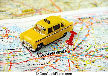 Antverp , Belgium map - Red push pin pointing at Antverp ,...