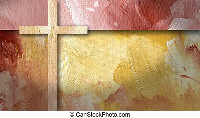 Graphic abstract background geometric cross yellow