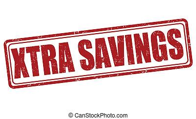 Xtra savings stamp - Xtra savings grunge rubber stamp on...