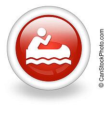 Icon, Button, Pictogram Canoeing - Icon, Button, Pictogram...