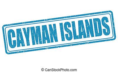 Cayman Islands stamp - Cayman Islands grunge rubber stamp on...