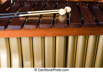 teclas,  Marimba,  resonators