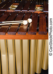 Marimba, teclas, resonators