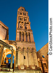 Split cathedral - Illuminated cathedral of Saint Domnius in...