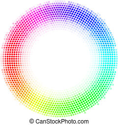 Dots digital form - Equalizer multicolor dots digital in...