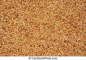 Golden linseed, abstract background texture