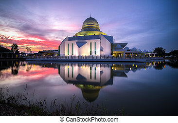 The Blue Hour - Blue Hour at An-Nur Mosque, Universiti...