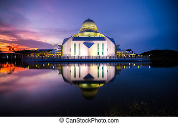 The Minaret - Blue Hour at An-Nur Mosque, Universiti...