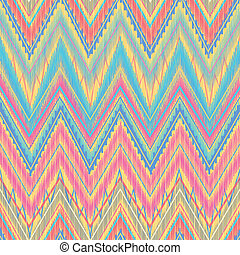 Aztec zigzag - Ethnic zigzag, pattern in bright colors Aztec...