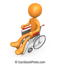 Wheelchair - Computer generated image - Person On Wheelchair...