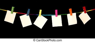 Blank note - Paper clip with bright colors with colored rope